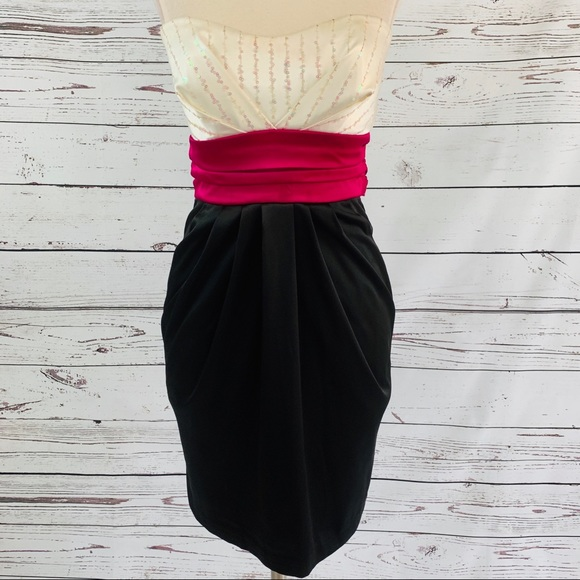Ruby Rox Dresses & Skirts - Gorgeous strapless dress with sequins EUC